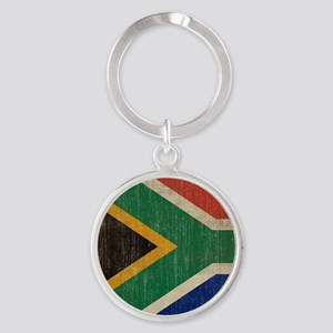Vintage South Africa Flag Round Keychain
