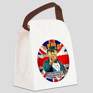 TSNS MP Button Canvas Lunch Bag