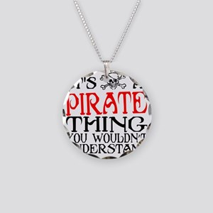 PIRATE_THING2 Necklace Circle Charm