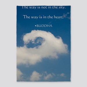 Buddha Spiritual Saying 5'x7'Area Rug