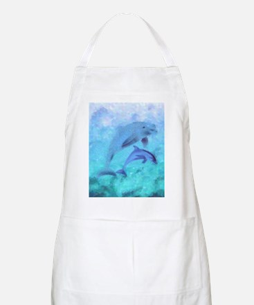 Painted Dolphins Apron