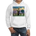 St Francis & Schnauzer (#5) Hooded Sweatshirt