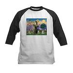 St Francis & Schnauzer (#5) Kids Baseball Jersey