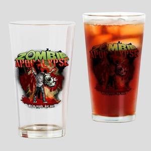 Zombie Apocalypse art Drinking Glass