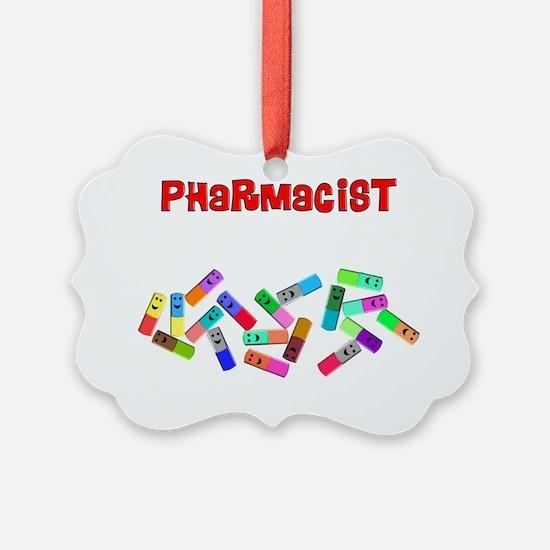 Pharmacist counts happy pillsDARK Ornament