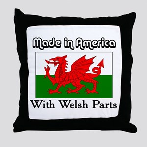 Welsh Parts Throw Pillow