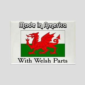 Welsh Parts Rectangle Magnet