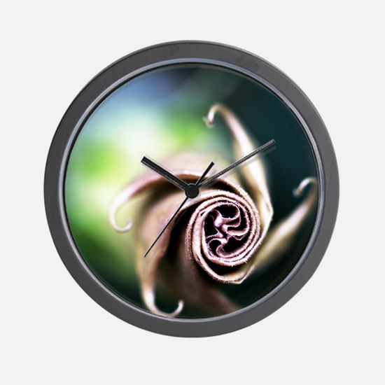Spiral Flower Puzzle 10x8 Wall Clock