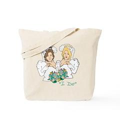 Lesbian Marriage I Do Tote Bag