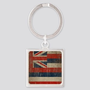Vintage Hawaii Flag Square Keychain