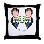 Groom-Groom Wedding Throw Pillow