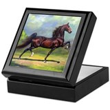 American saddlebred Square Keepsake Boxes
