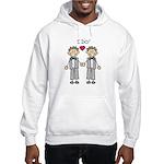 Gay Wedding Grooms Hooded Sweatshirt