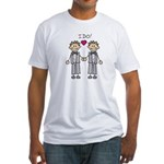 Gay Wedding Grooms Fitted T-Shirt