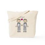 Gay Wedding Grooms Tote Bag