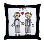 Gay Wedding Grooms Throw Pillow