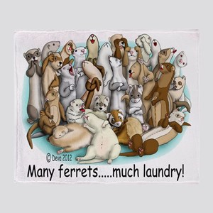 Ferret Laundry Throw Blanket