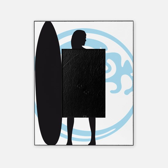 surfer wave board star beach babe se Picture Frame