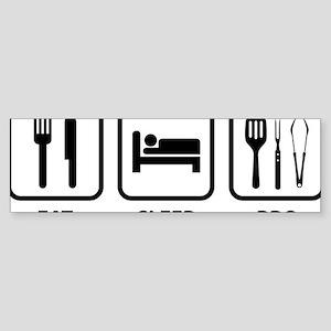 EatSleepBBQ2A Sticker (Bumper)
