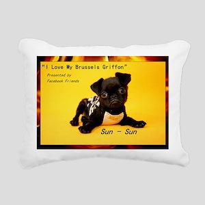 Brussels Griffon Rectangular Canvas Pillow