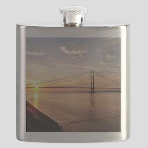 Humber Bridge Sunset Flask