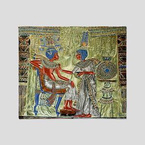 Tutankhamons Throne Throw Blanket