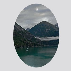 Tracey Arm Fjord Oval Ornament