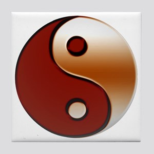 yin yang 2 Tile Coaster