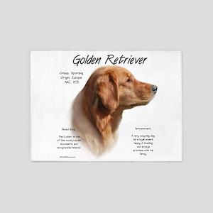 Golden Retriever 5'x7'Area Rug