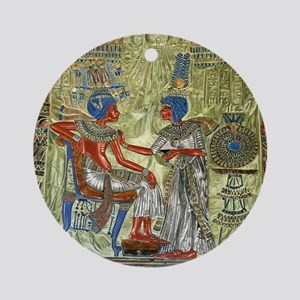 Tutankhamons Throne Round Ornament