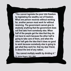 YOU CANNOT LEGISLATE THE POOR INTO EQ Throw Pillow