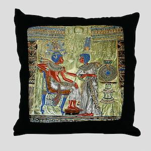 Tutankhamons Throne Throw Pillow