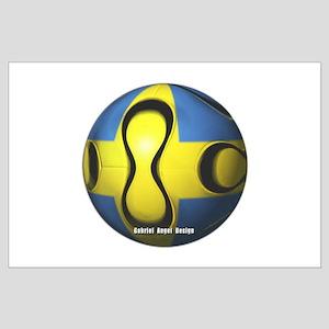 Sweden Soccer Large Poster