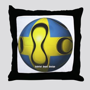 Sweden Soccer Throw Pillow