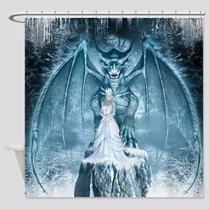 Ice Queen and Dragon Shower Curtain