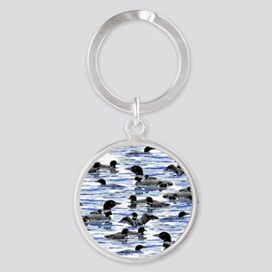 lots of Loons! Round Keychain