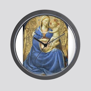 Madonna of Humility - Fra Angelico Wall Clock