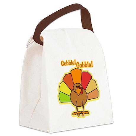 Thanksgiving Turkey Cartoon Gobbl Canvas Lunch Bag