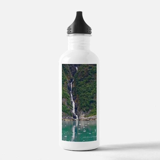 Glacier Waterfall Water Bottle