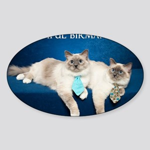 Birman Cat Calendar Sticker (Oval)