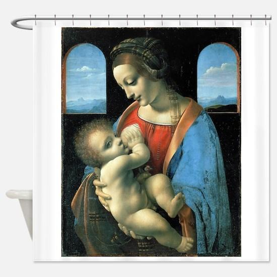 Madonna Litta - da Vinci Shower Curtain