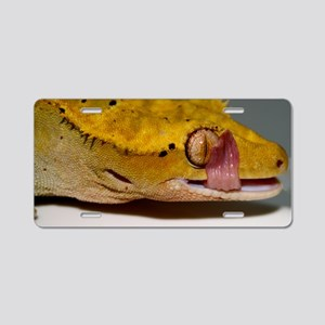 Crested Gecko Lick Aluminum License Plate