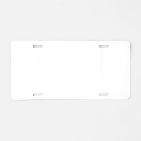 EatSleepLogistics1B Aluminum License Plate