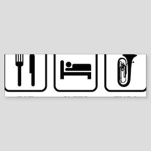 EatSleepTuba1A Sticker (Bumper)