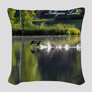 Loons Woven Throw Pillow
