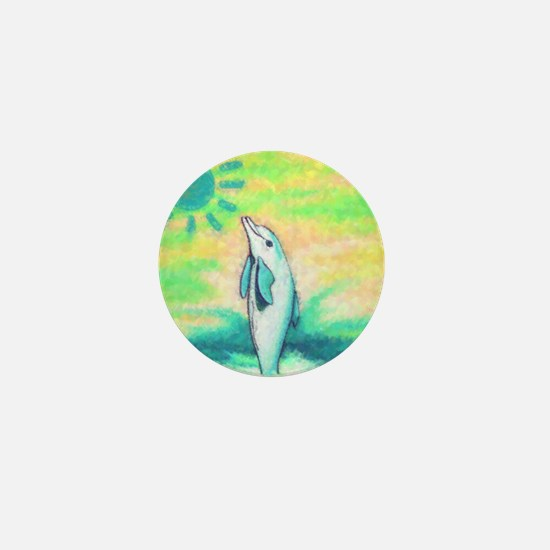 Dolphin Painting Mini Button
