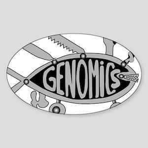 Genomics Sticker (Oval)