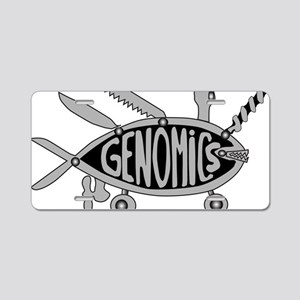 Genomics Aluminum License Plate
