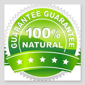 "100% Natural Square Car Magnet 3"" x 3"""
