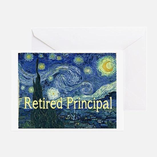Retired Principal Van gogh blanket Greeting Card